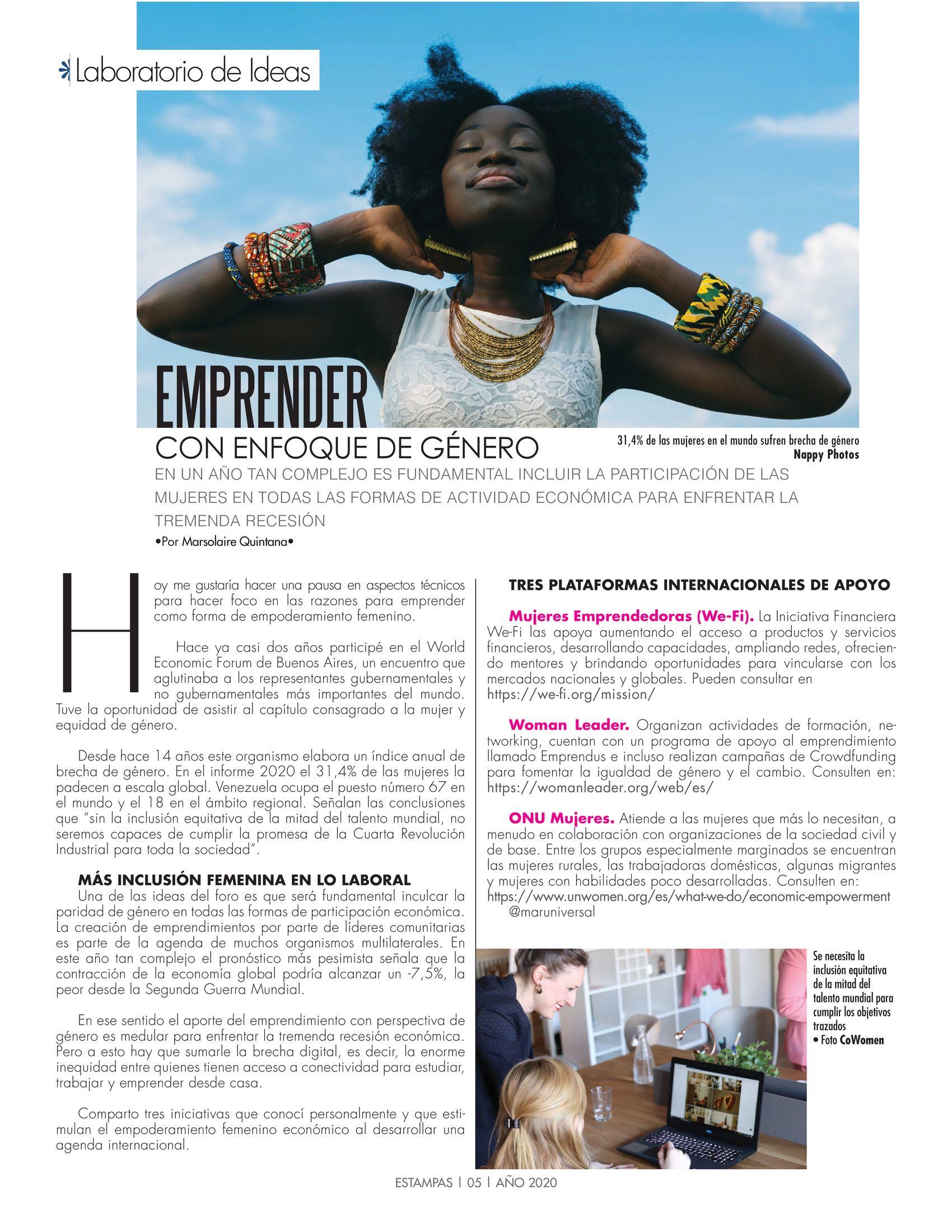 5-REV Laboratorio de Ideas: Emprender con enfoque de género