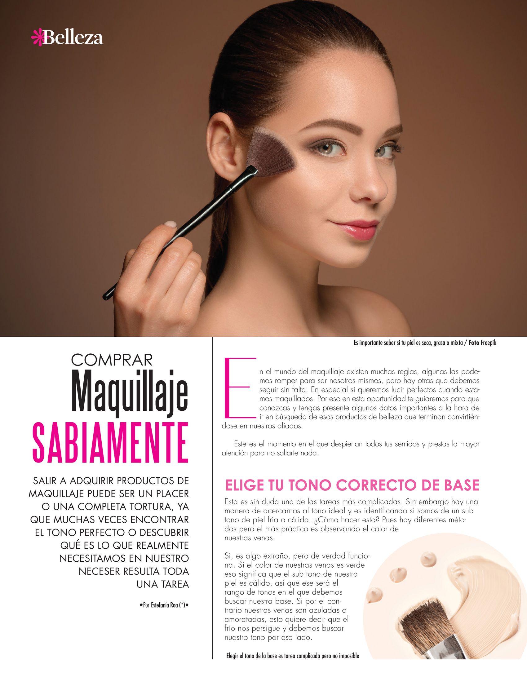10-REV Belleza: Estefanía Roa:  Comprar maquillaje sabiamente
