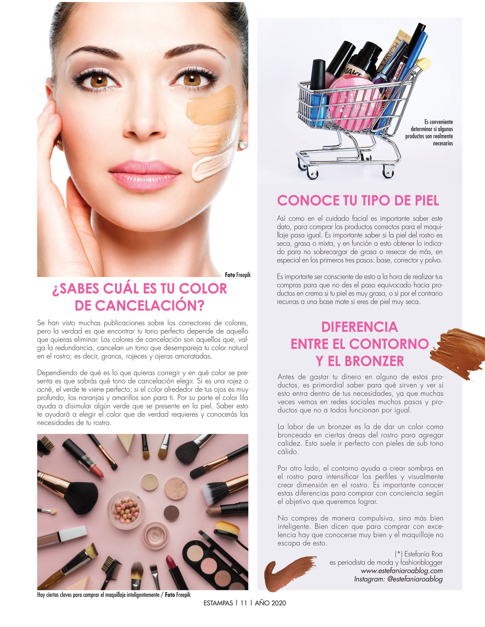 11-REV Belleza: Estefanía Roa:  Comprar maquillaje sabiamente