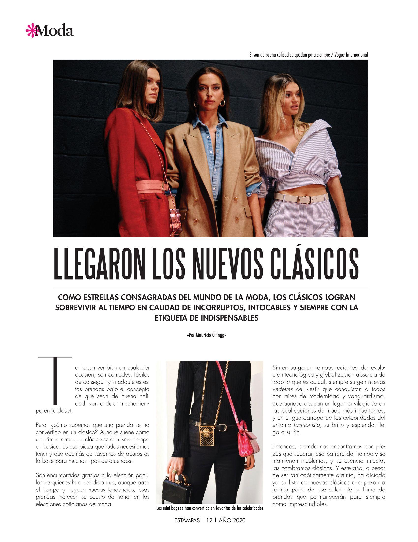 12-REV Moda:  Mauricio Cilingg - Llegaron los nuevos clásicos