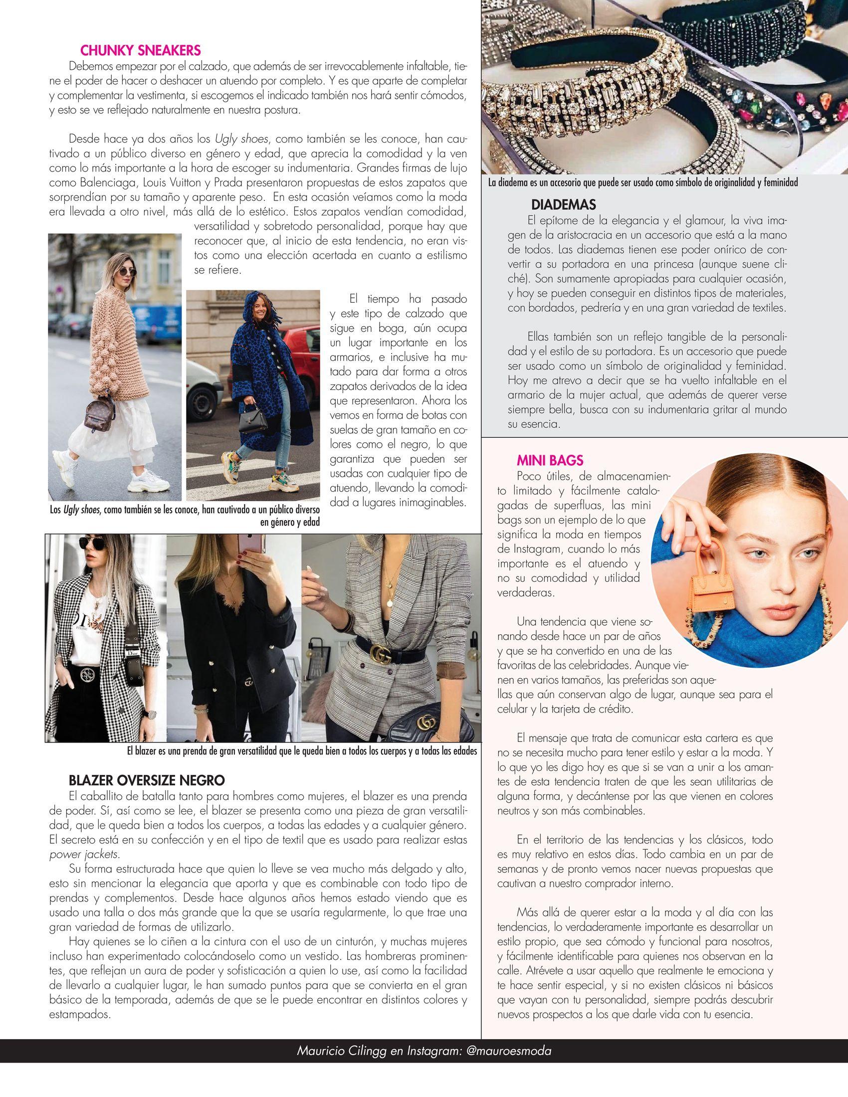 13-REV Moda:  Mauricio Cilingg - Llegaron los nuevos clásicos