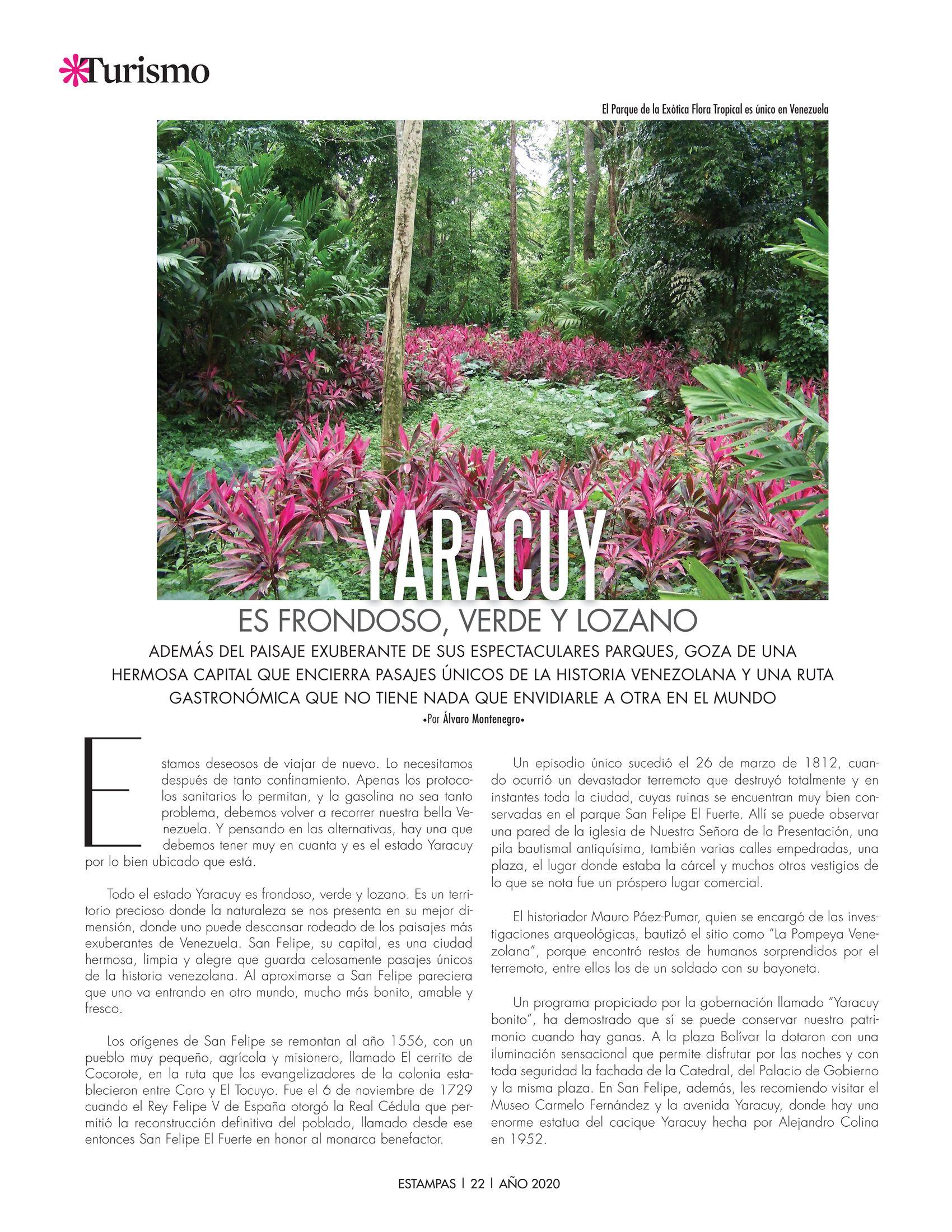 22-REV Turismo:  Álvaro Montenegro - Yaracuy es frondoso verde y lozano