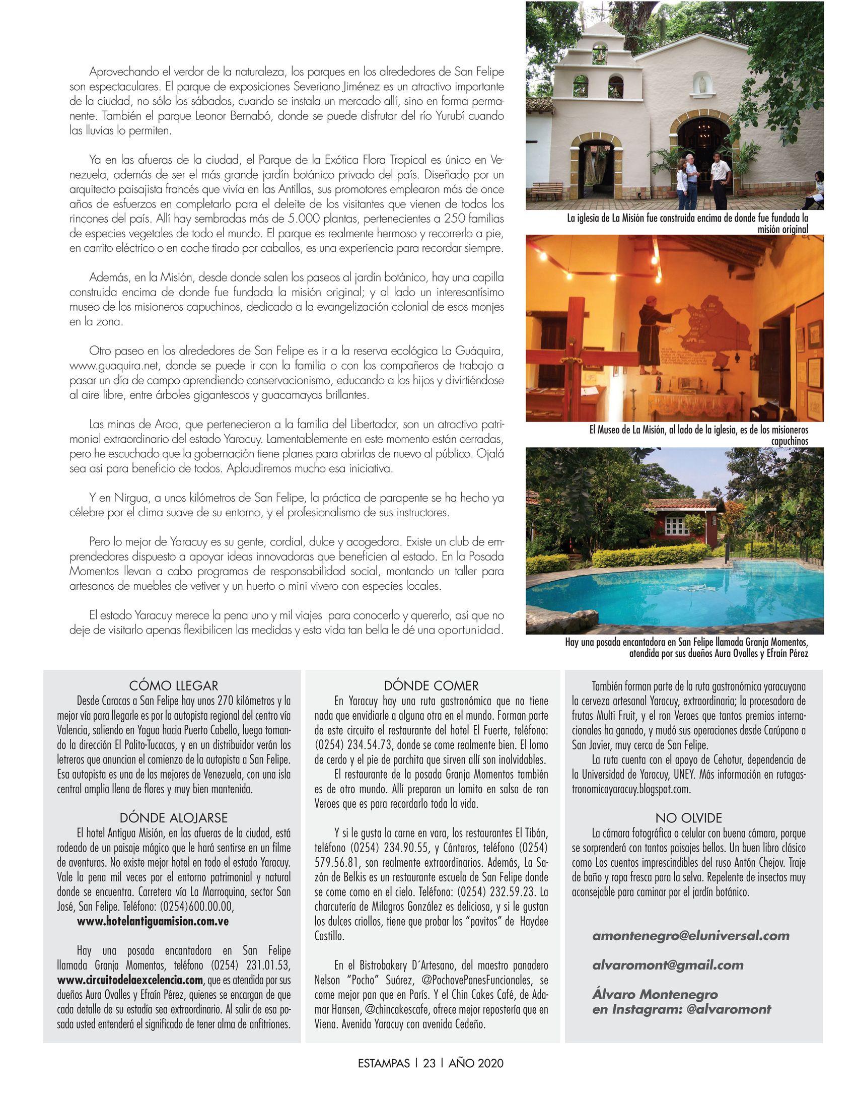 23-REV Turismo:  Álvaro Montenegro - Yaracuy es frondoso verde y lozano