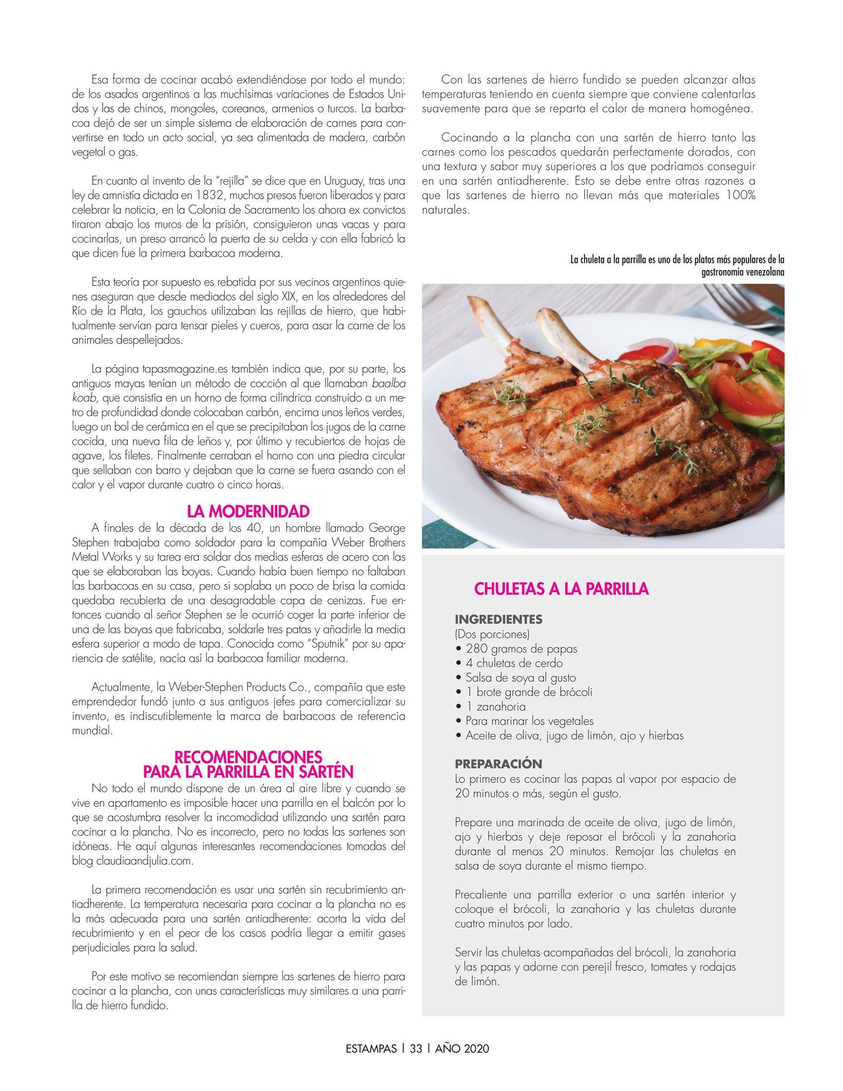 33-REV Cocina: Especial para Estampas - Nada como una buena parrilla