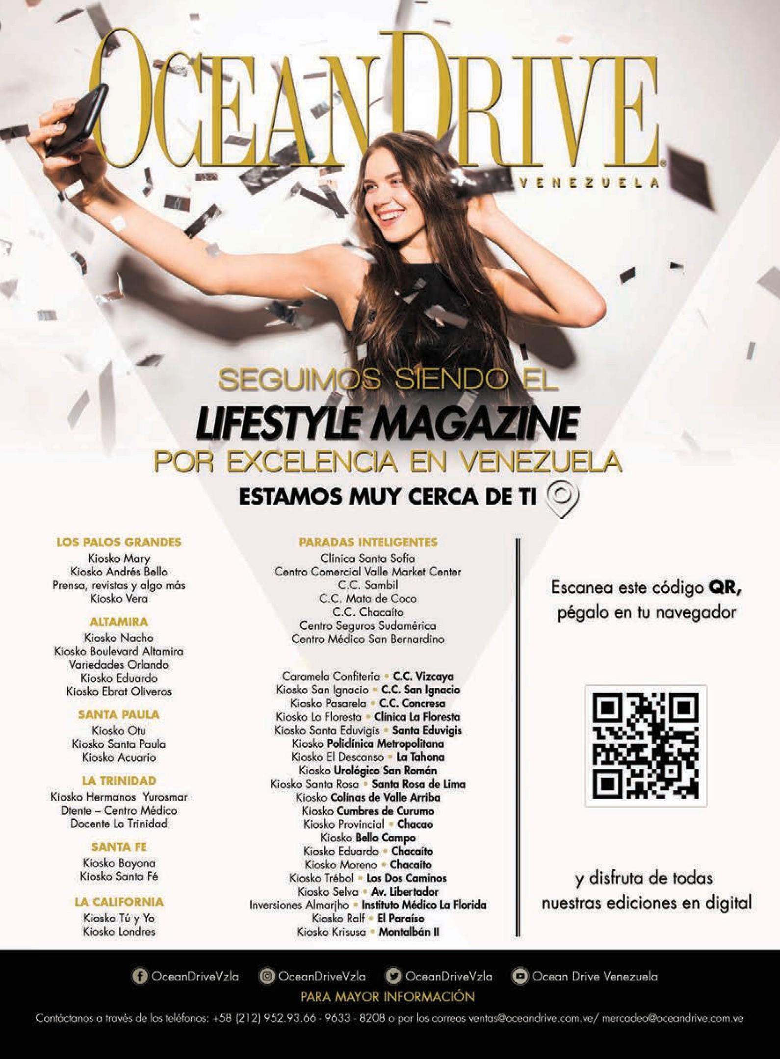 OD075 ODR Ocean Drive 2020 Octubre Noviembre Aniversario Revista