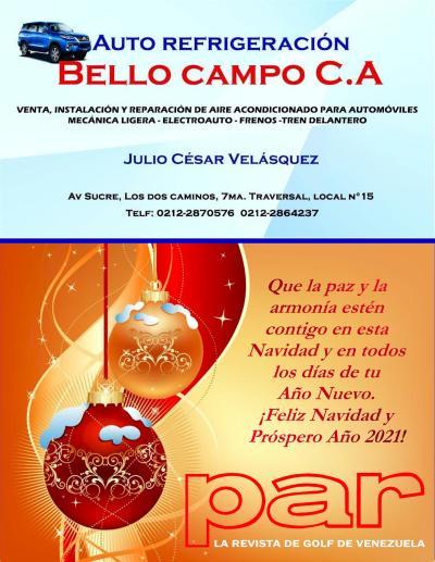 Mensaje Refirgeracion Bello Campo y PAR