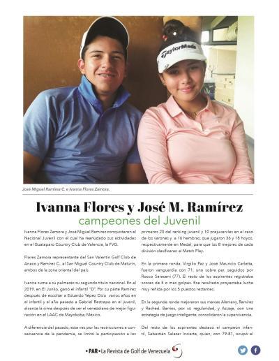 Ivanna Flores y Jose M Ramírez -  Campeones Juvenil
